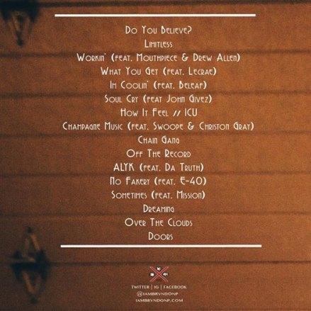 Brvndon-P-Tracklist