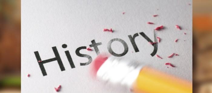 بيع التاريخ ومسح التاريخ
