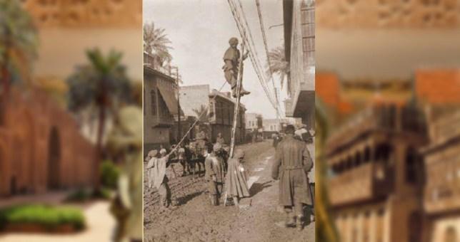 توصيل التيار الكهربائي – بغداد 1917