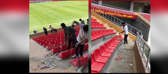 ملعب كربلاء – بعد انتهاء المباراة