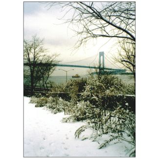 Cover of Christmas Holiday Card - Verrazano Bridge