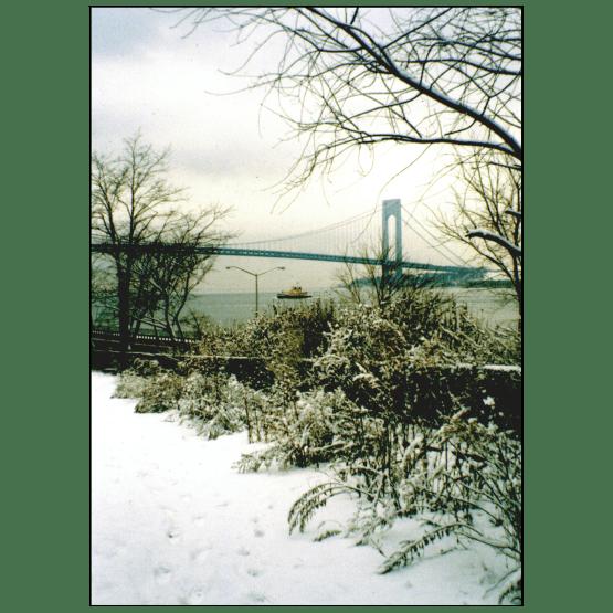 Cover of Christmas Holiday Card - Verrazano Bridge