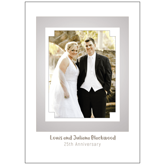 Cover of 25th Wedding Anniversary Party Invitation with Photo
