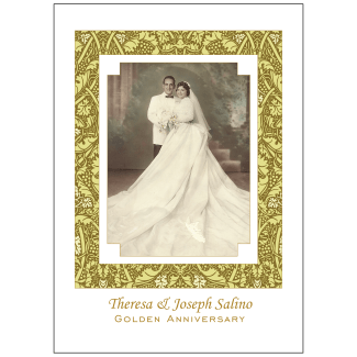 Cover of 50th Wedding Anniversary Party Invitation with Photo