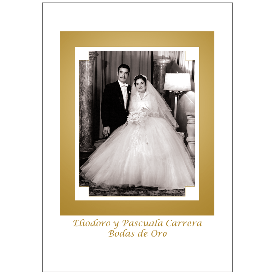 Cover of 50th Wedding Anniversary Party Invitation in Spanish with Photo