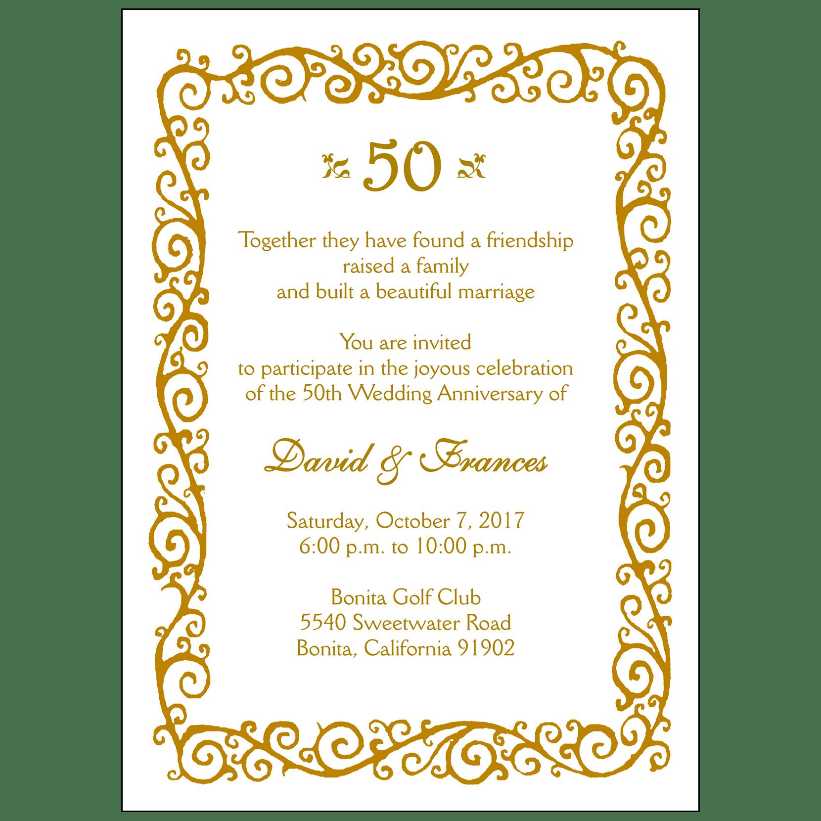 Anniversary Party Invitations IPV Studio
