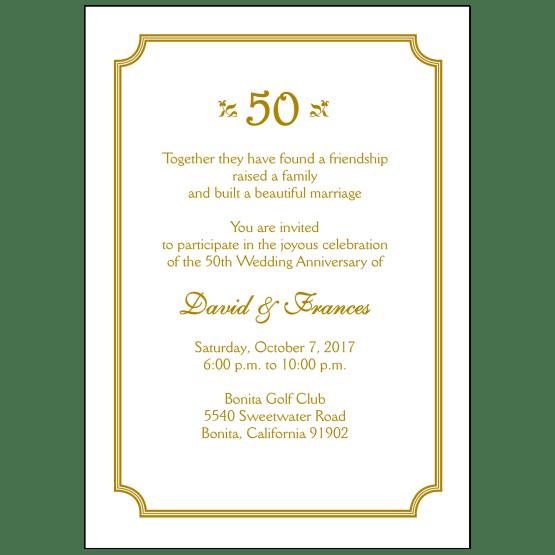 anniversary party invitation style ap 010 ipv studio
