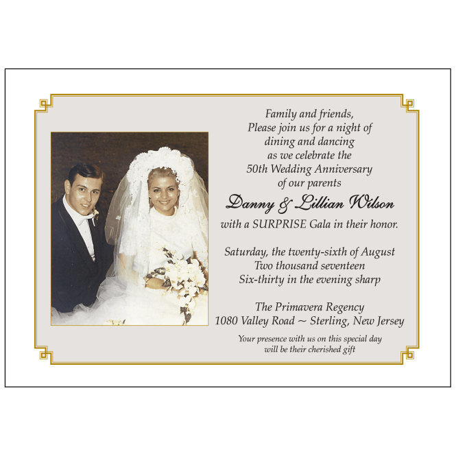 Anniversary Party Invitation Style Ap 013