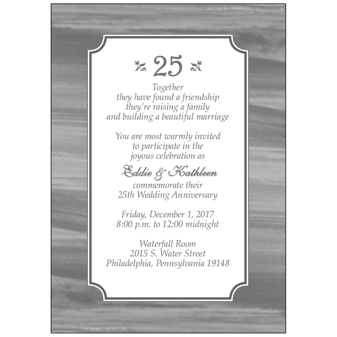 Anniversary Party Invitation Style Ap 025