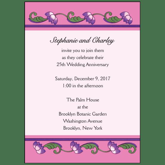 Wedding Anniversary Party Invitation