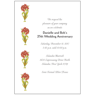 Wedding Anniversary Party Invitation