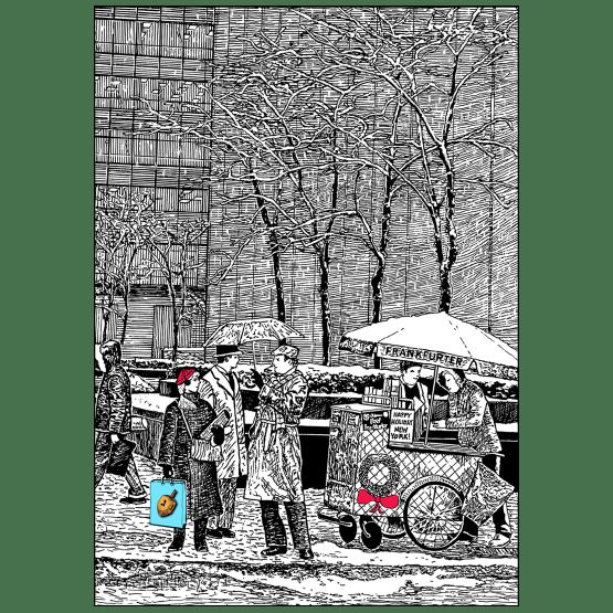 Cover of Christmas Hannukah Holiday Card - Sixth Avenue NYC