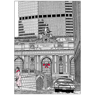 Cover of Grand Central Station Christmas Holiday Card