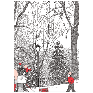 Cover of Christmas Holiday Card Winter in the Park 2
