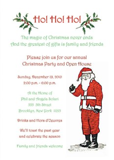 Christmas Party Invitation, CPIT-01