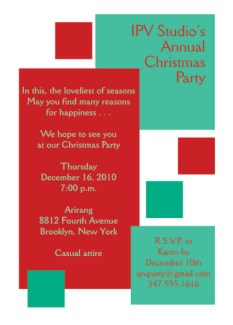 Christmas Party Invitation, CPIT-06