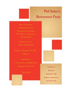 Retirement Party Invitation Template - RPIT-18