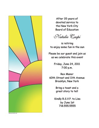 Retirement Party Invitation Template - RPIT-19