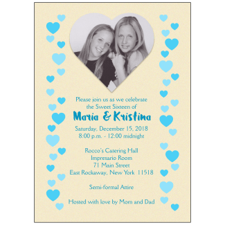 Sweet 16 Invitation with Photo - Twins