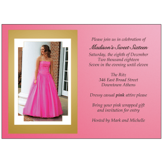 Sweet 16 Invitation with Photo