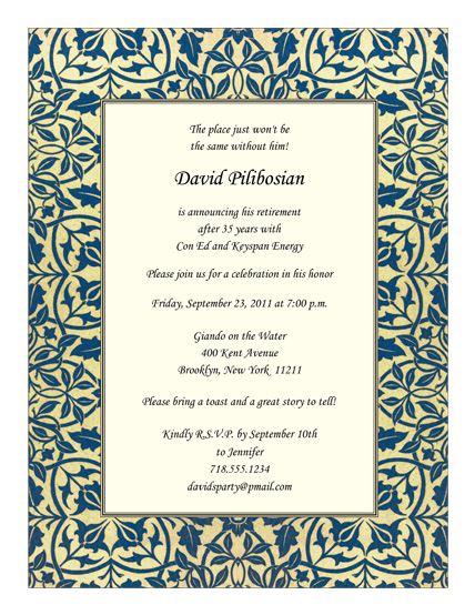 Retirement Party Invitation Template - RPIT-21