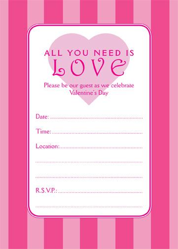 Valentines Day Party Invitation VPIT01 IPV Studio