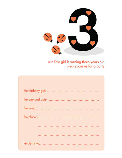 Children's Birthday Party Invitation - KBIF-09