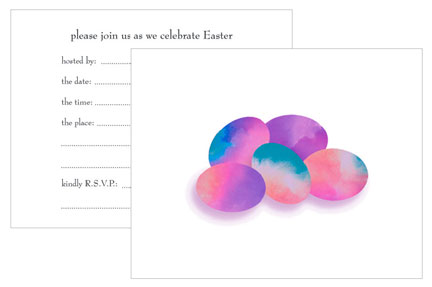 Easter Party Fill In Invitations