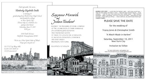 New York Theme Party Invitations