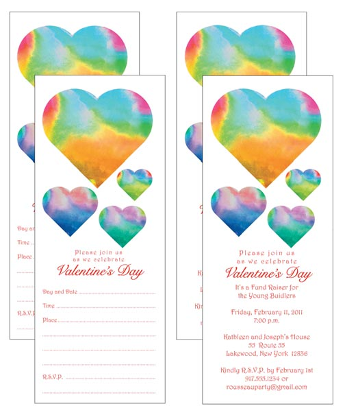 Download and Print Your Own Valentine's Day Party Invitations by ipvstudio.com