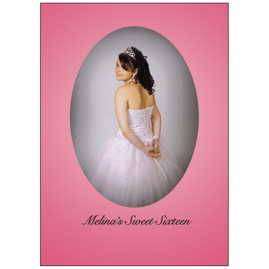 Cover of Sweet 16 Invitation with Photo