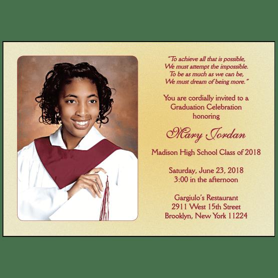 Graduation Party Invitation with Photo