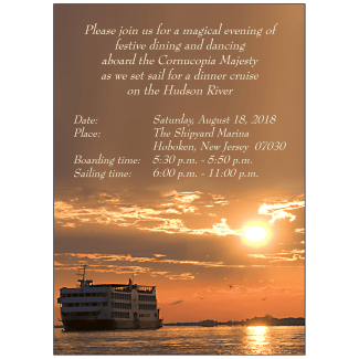 Cruise Party Invitation