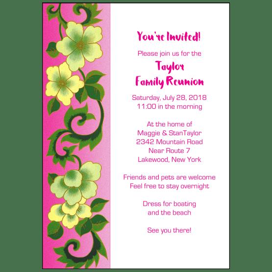 Family Reunion Invitation