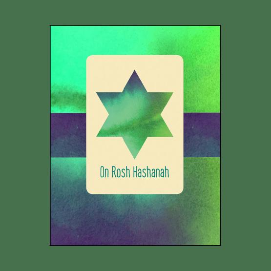 Cover of Rosh Hashanah Jewish New Year Card