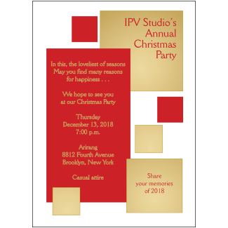 Christmas Holiday Party Invitation