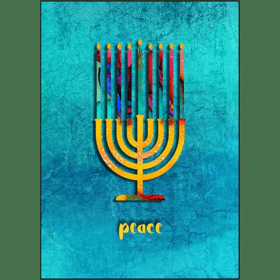 Hanukkah Card with Menorah