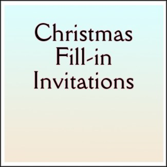 Christmas Fill-in Invitations
