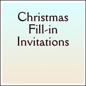 Christmas Fill-in Invitations