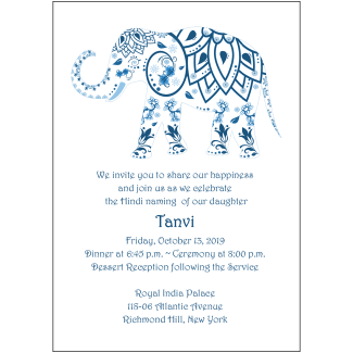 Namkaran Hindi Baby Naming Invitation