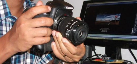 Reverse lense macro