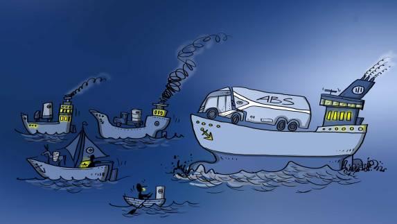 unterschiedliche Schiffe