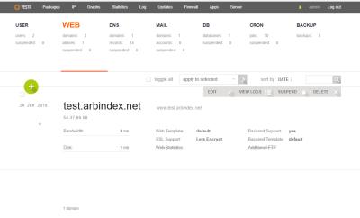 VestaCP لوحة تحكم مجانية لادارة سيرفرات استضافة مواقع الانترنت
