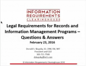 law records information webinar