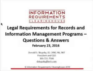 law records information webinar