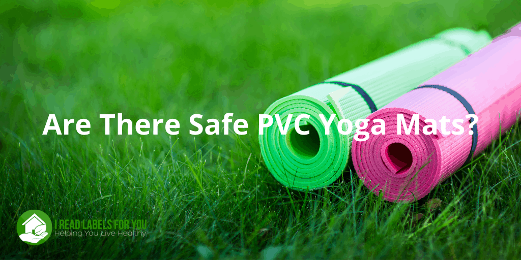 Are there safe PVC yoga mats? A picture of a polyvinyl chloride yoga mat.
