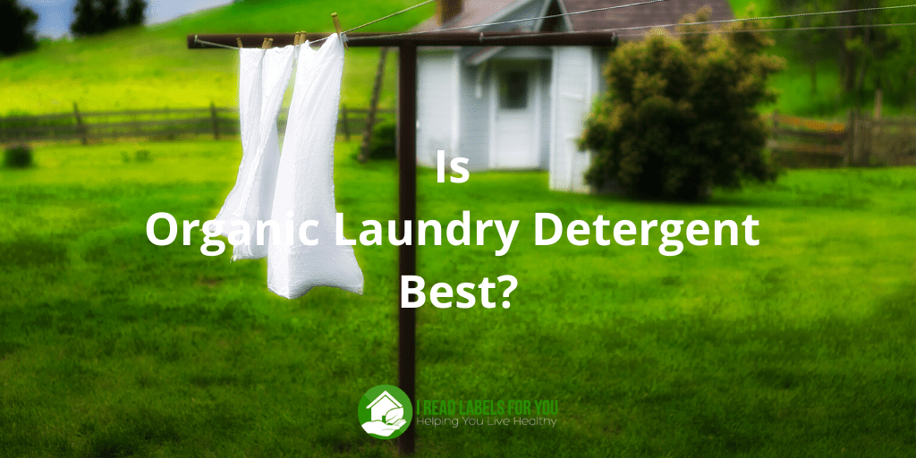 Organic Laundry Detergent. A photo of hanging laundry washed by non-toxic laundry detergent.