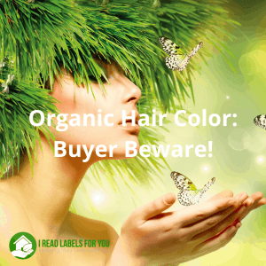 Organic Hair Color. Picture of a woman with organic hair dye hair.