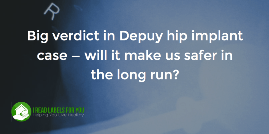 Big verdict in Depuy hip implant case