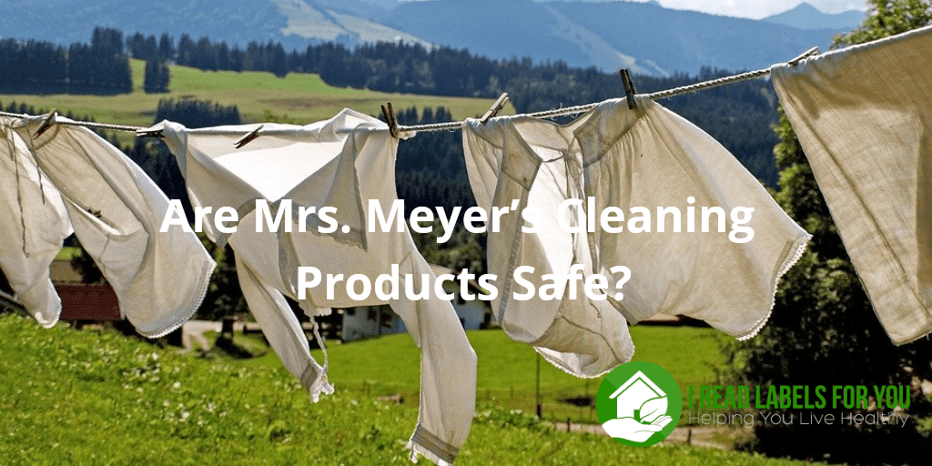 Are Mrs. Meyer's Cleaning Products Safe? A photo of fresh clean drying laundry with the green valley in the background.